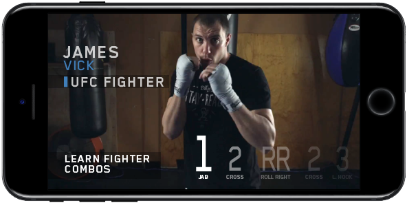 Learn Fighter Combos with UFC Fighter James Vick (videos)